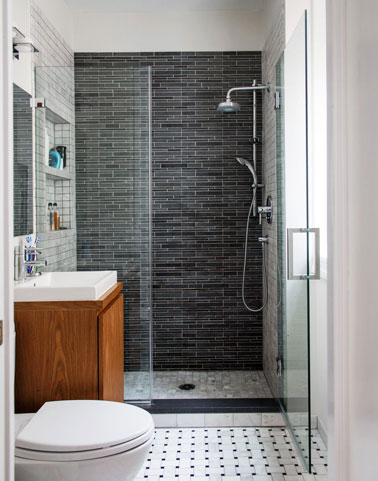 ... une douche à l'italienne pour une salle de bain petite espace