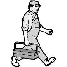 serrurier en route pour le travail