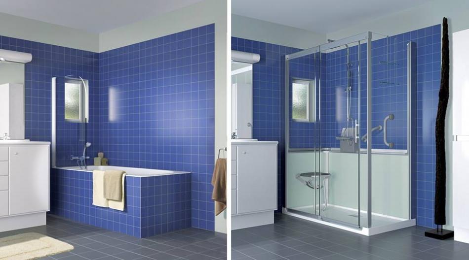 remplacer votre baignoire par une douche. Black Bedroom Furniture Sets. Home Design Ideas