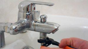 robinet est obstrué